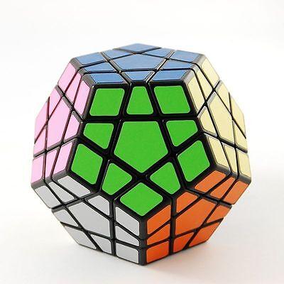 US Shengshou Megaminx Black Magic Puzzle Speed Cube Brain Teaser Twist Toy Gift
