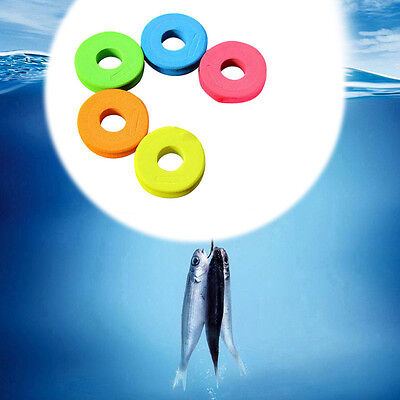 100xGLOW IN DARK Round Rig Beads Sea Fishing Lure Floating Float Tackle 5mm T1D4