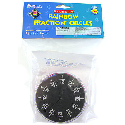 (Learning Resources Magnetic Foam Rainbow Fraction Circles Educational)