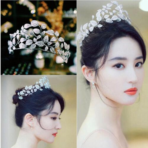 New Leaves Zircon Brides Tiaras Crowns Bridal Headpieces Wedding Hair Accessory