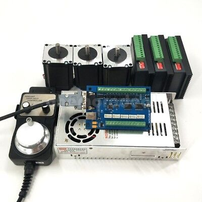 Mach3 Usb Cnc 5 Axis Control Card Nema 23 Stepper Motor 57 And Dm542 Driver