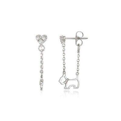 [AGATHA] SILVER 925 Heart Scottie Drop Silver Earrings 2321727S-136-TU K-beauty