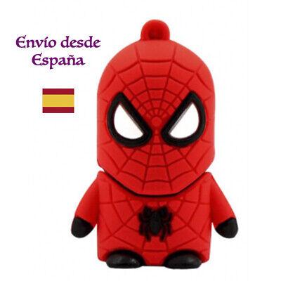 Usb pendrive memoria 16Gb Spiderman Superheroe Hombre Araña disco duro externo