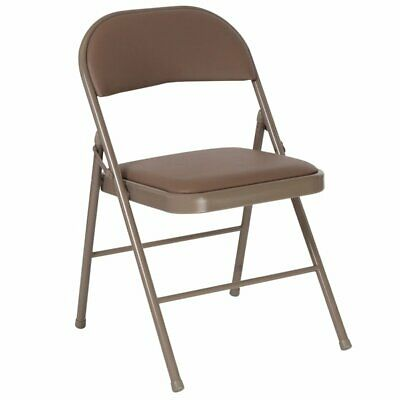 Flash Furniture Padded Folding Chair In Beige