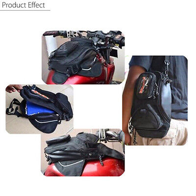 Magnetic Motorcycle MotorBike Travel Saddlebag Oil Fuel Gas Tank Bag W/ Window for sale  China