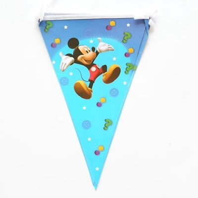 Mickey-mouse-banner (Mickey Mouse Banner Bunting Flag Happy Birthday 2.5 Meter)