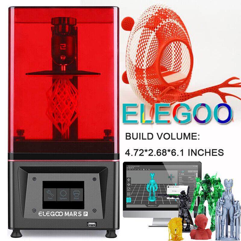 "ELEGOO Mars Pro 3D Printer UV Resin Printers 3D Printer With 5.5"" 2K HD LCD"
