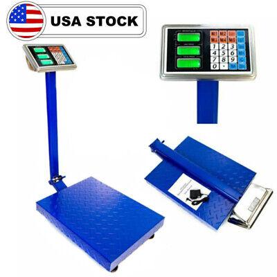 600lb 300kg Weight Price Scale Digital Floor Platform Shipping Warehouse Postal