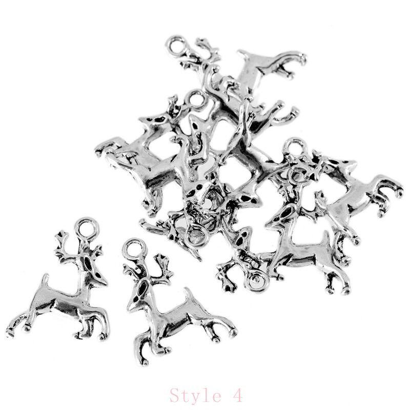 10pcs Dinner Fork Tibetan Silver Bead Charms Alloy Pendants Fit DIY 25*4mm