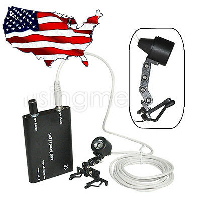 Clip Led Head Light Lamp For Dental Surgical Medical Binocular Loupes Black Usps