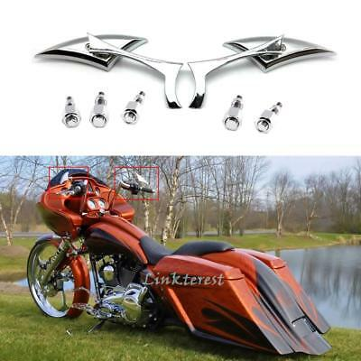 Motorcycle Blade Steady Mirrors For Harley Davidson Road Glide Custom Touring