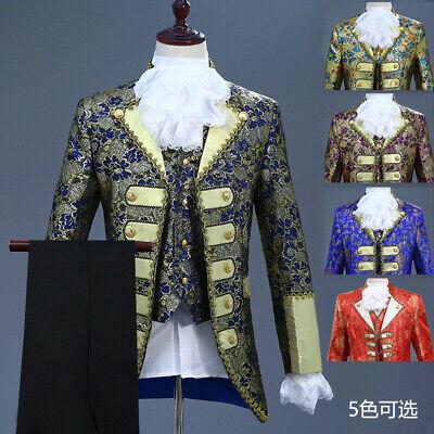 Renaissance Medieval Mens King Prince Schauspiel Kostüm Erwachsene Mantel + - China King Kostüm