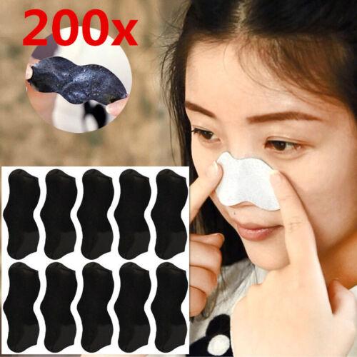200Pcs Naso Pori Detergente Strisce Rimozione Punti Neri Peel Off maschera/naso