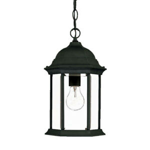 ACCLAIM MADISON  - OUTDOOR HANGING LANTERN - BLACK CORAL - NEW