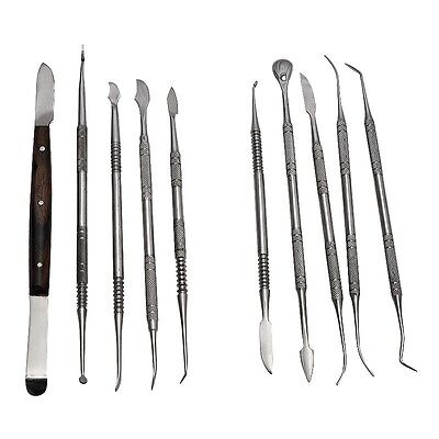Dental Lab Stainless Steel Kit Wax Carving Tool Set Instrument Styles 2016 New