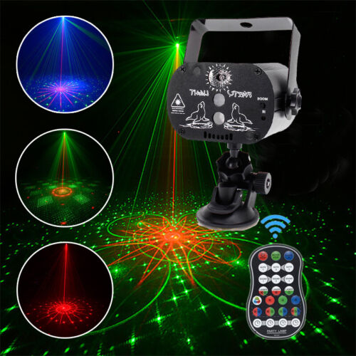 RG Laser Muster Lichteffekt RGB DJ Projektor Disco LED Bühnenbeleuchtung Mini DE