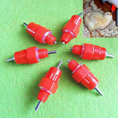 5x Automatic In Poultry Water Nipple Drinker Feeder For Chicken Duck Hen Us