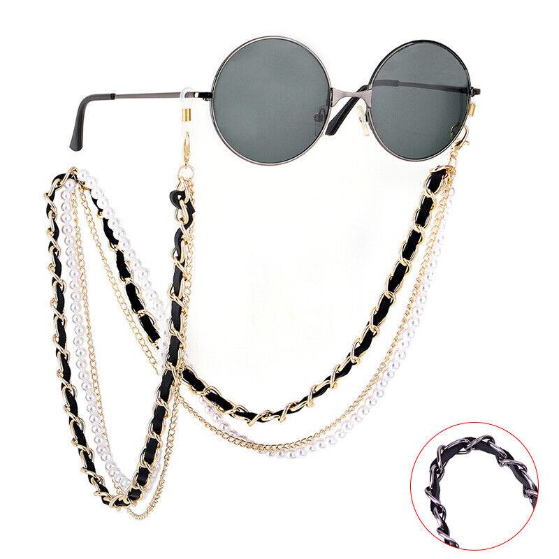 pearl sunglasses chain women lanyard strap eye