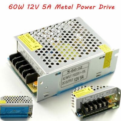 Dc12v 5a 60w Power Supply Metal Power Driver For Led Strip Light 5050 3528 5630