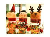 1 reindeer 1 snowman available candy/sweet jar