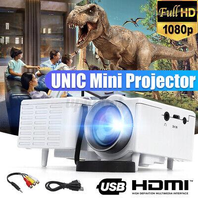 HD 1080p Mini Portable Projector LED LCD 320*180Pixels AV/USB/TF Home Theater US