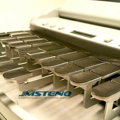 Steno Writer Black Textured Urethane Keytop Covers
