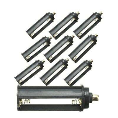10PCS AAA Battery Holder Case Box Cylindrical For Tactical 18650 LED Flashlight