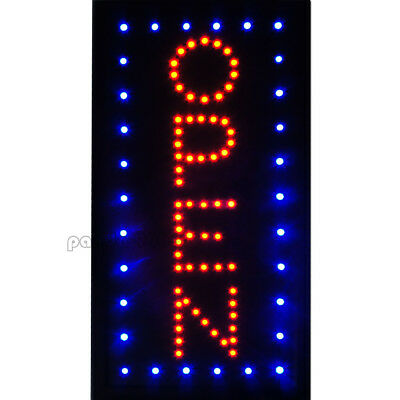 1910 Vertical Animated Motion Led Light Open Neon Business Sign Bar Caf Shop