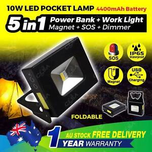 10W Rechargeable LED Work Light Portable Camping Lamp Magnetic North Melbourne Melbourne City Preview