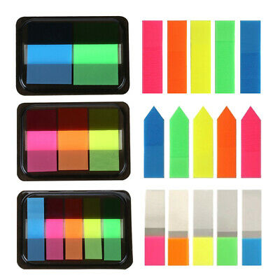 125x Fluorescence Sticky Notes Memo Flag Bookmark Marker Tab Sticker Mixed-color