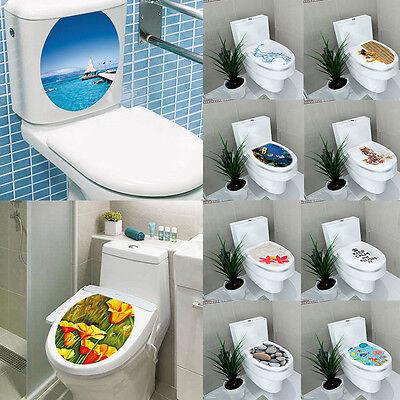Toilet Seat DIY Wall Sticker Decals Vinyl PVC 3D Art Paper Mural Bathroom Decor (Decor Toilet)