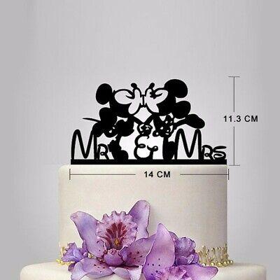 Tortenstecker Cake Topper Fondant Hochzeit Acryl Tortenfigur Micky&Minni Wedding