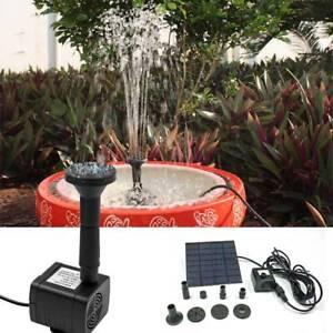 Solar Panel Ed Water Feature Pump Garden Pool Pond Aquarium Fountain 200l H