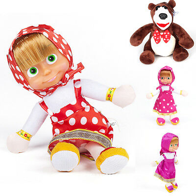 Briquedos Popular Masha and Bear Plush Dolls Russian Masha and Bear Stuffed Toys
