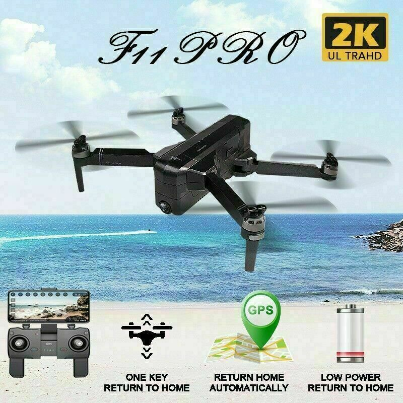 SJRC F11 PRO RC Drone Quadcopter GPS 5G Wifi FPV 2K Camera Brushless Selfie