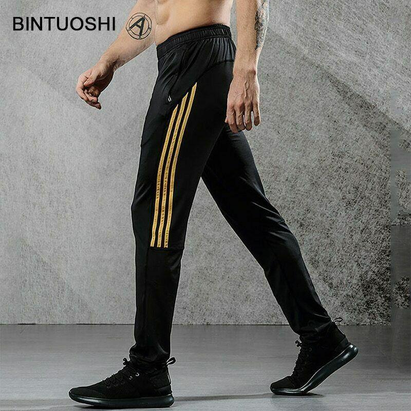Pantalones De Cremallera Deportivos Transpirables Hombre Entrenamiento Bolsillos Ebay