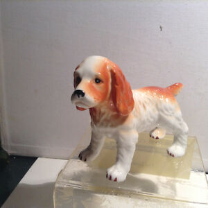 Cocker Spaniel Dog Ceramic Porcelain Figurine Mid Century VTG