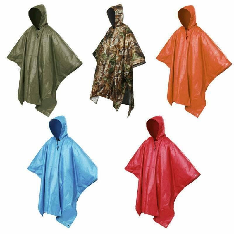 Outdoor Waterproof Rain Poncho 3in1 Multifunctional Raincoat