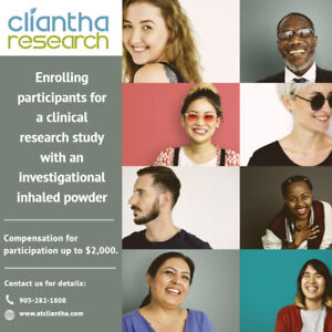 Participants for Paid Healthy Volunteer Study