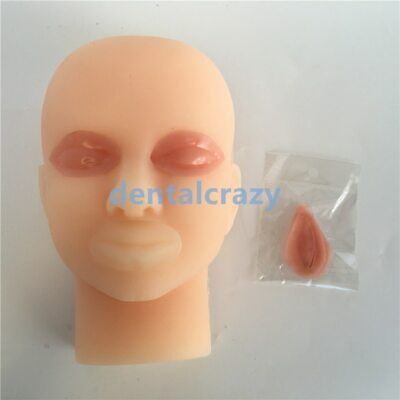 Face Model Silicone Skin Micro-Shaping Study Guide Use Double Eyelid (Face Shape Guide)