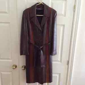 Brown leather/ suede coat Size 10