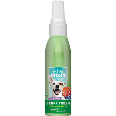 Tropiclean Dog Oral Care Spray 4 oz.  3 Flavor Choices Fights Bad Breath ()