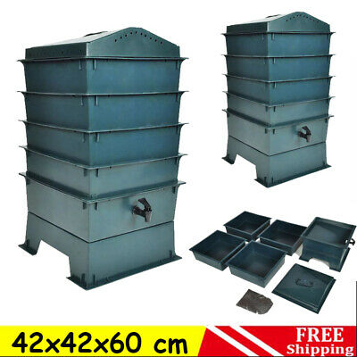 Eco-friendly 4-Tray Wormery Worm Factory Composter Waste Bin System