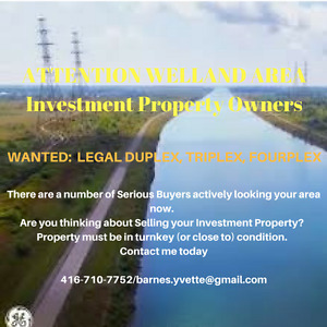 ATTN: WELLAND INVESTORS/PROPERTY OWNERS