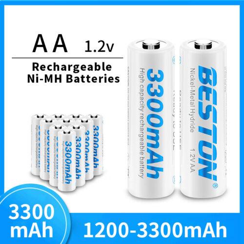 AA 3300mAh 1.2V Wiederaufladbare Rechargeable Akku Li-lon Batterien Batterie Neu