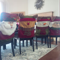 Xmas Dining Seat Covers