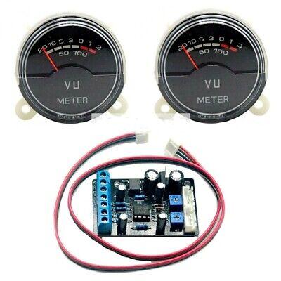 2pc P-40sa Vu Meter Db Level Header Audio W Blue Led Backlight W 1x Driver Board
