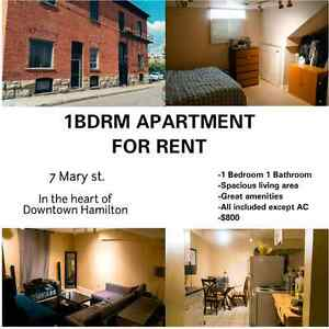 Affordable 1 bedroom apartment - utilities included except ac