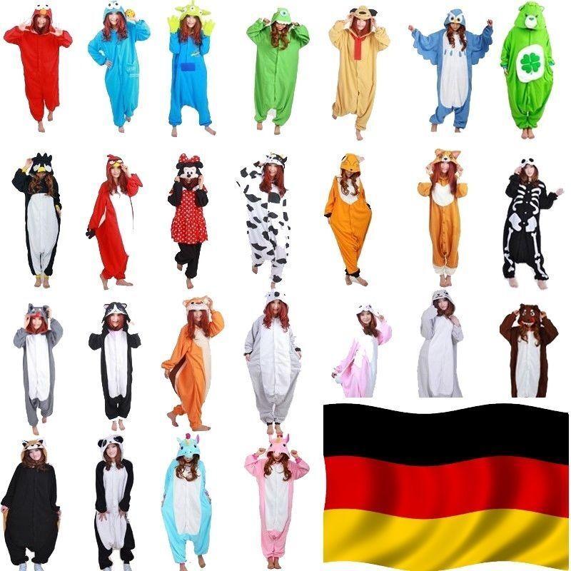 Frauen Männer Cosplay Unisex Pyjama Party Tier Erwachsene Tier Onesie* Kostüm