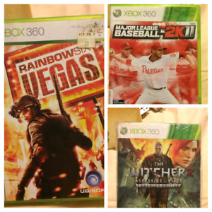 Xbox 360 games lots available